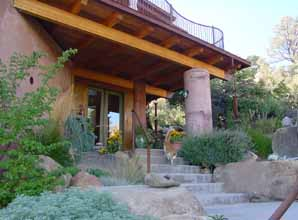 "Picture of front entry of ""green"" sustainable home by LSSA"